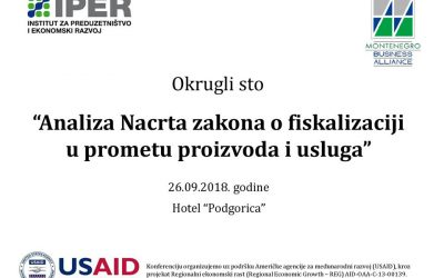 """Round table – """"Analysis of the Draft Law on Fiscalization in the Trade of Products and Services"""""""