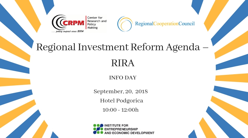 Info day Regional Investment Reform Agenda (RIRA)