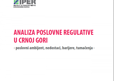 Analiza poslovne regulative u Crnoj Gori
