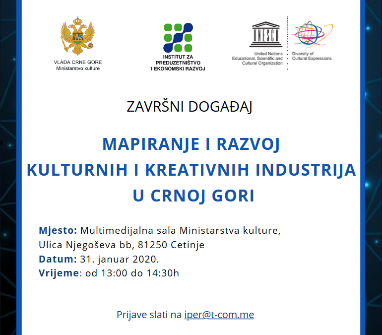 The final event of the project 'Development of cultural and creative industries as part of a sustainable economic sector in Montenegro'