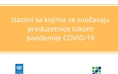 Istraživanje – Izazovi sa kojima se preduzetnice susrijeću tokom pandemije COVID-19